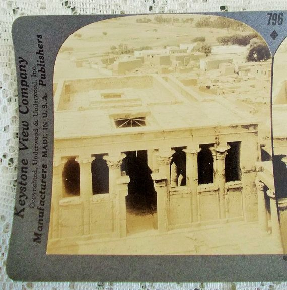 Egyptian Stereoview Card Keystone 2599 The by DaysofYoreTreasures