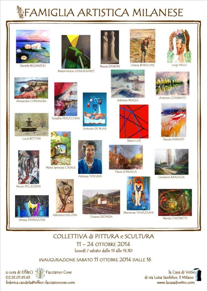 11.10.2014 Inaugurazione Collettiva di Pittura e Scultura Famiglia Artistica Milanese