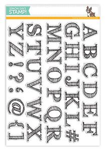 *Simon Says Clear Stamps SKETCHED ALPHABET SSS101376