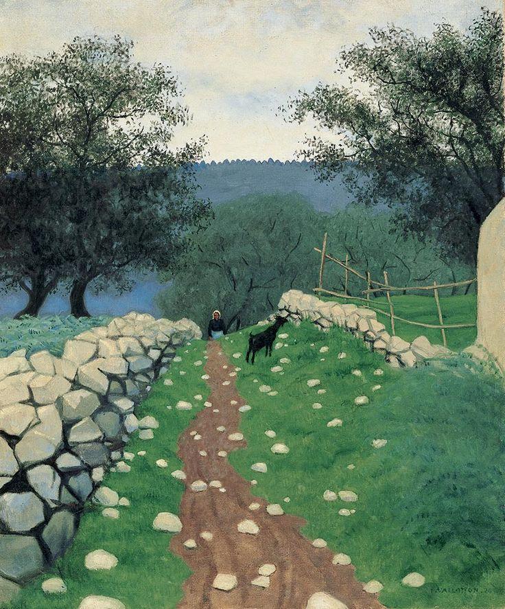 """Félix Vallotton """" Paysage avec chèvre, Vence """" 1924 - Fondation de l'Hermitage : La collection de l'Hermitage"""