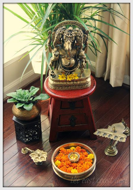64 best images about indian decor on pinterest ganesha for Simple diwali home decorations