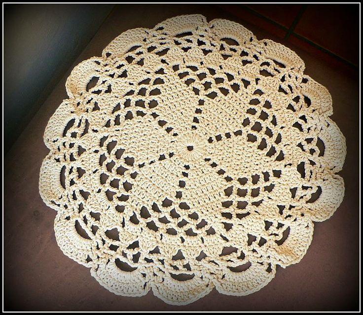 Crocheted doilie