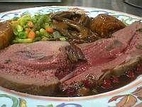 Gigue de chevreuil - Recette de gigue de chevreuil rôtie
