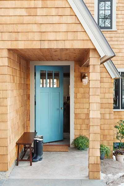 To ease entry for people with impaired mobility, the landscaping of the Essex House was graded to bring it level with the porch and a 36-inch-wide front door was installed.   Photo: Anthony Tieuli   thisoldhouse.com