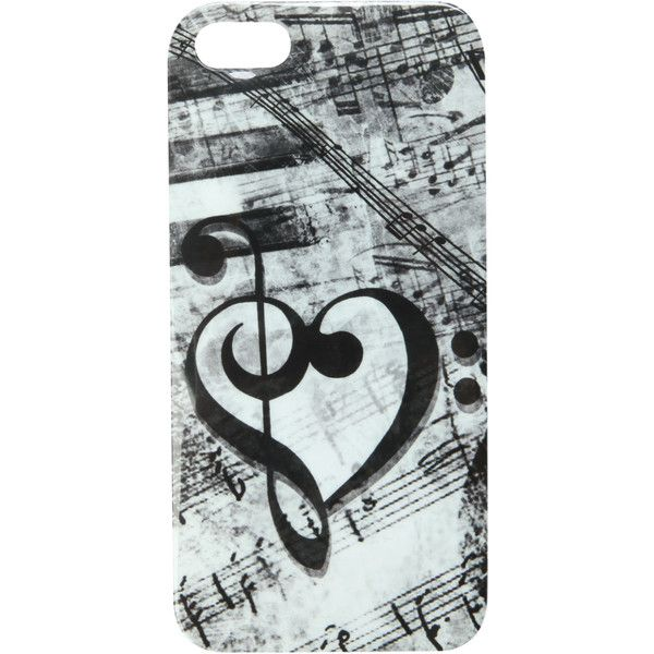 Music Clef Heart iPhone 5 Case   Hot Topic found on Polyvore