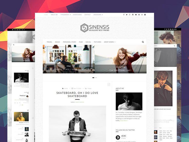 Sinensis - Personal Blog Web Design by Azhari Subroto