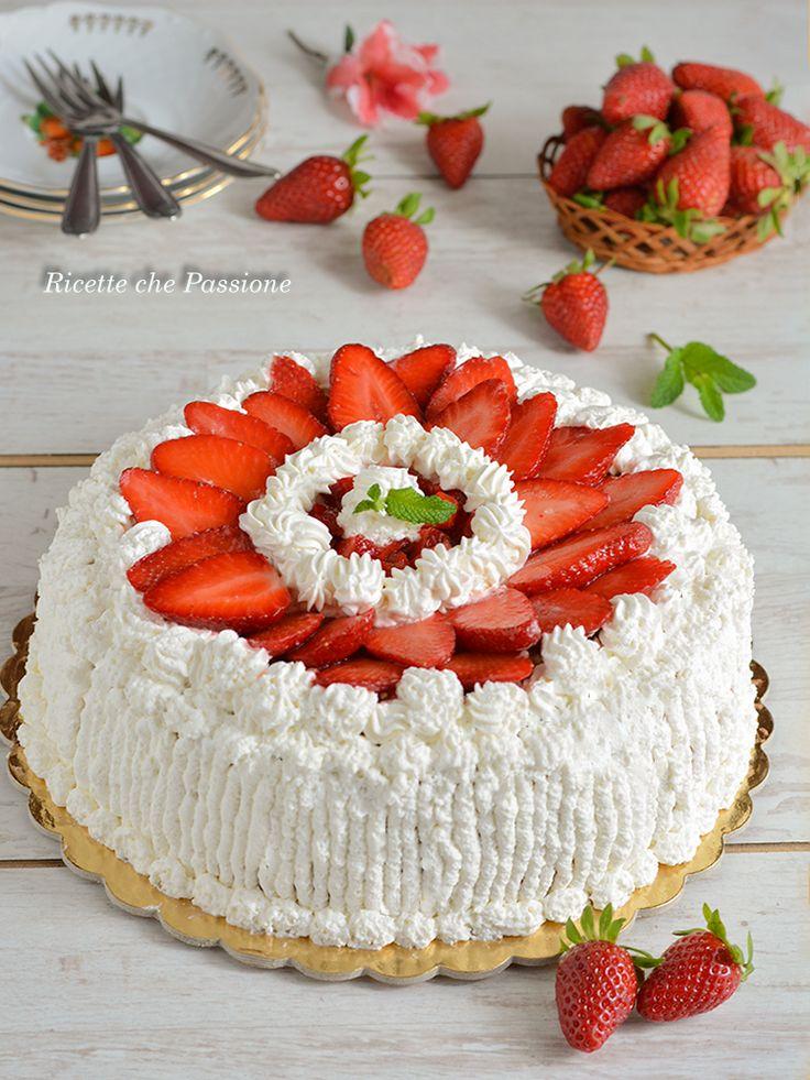 Torta panna e fragole - Ricette che Passione