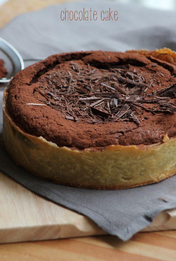Dolce Salsarosa: Torta al cioccolato fondente in guscio