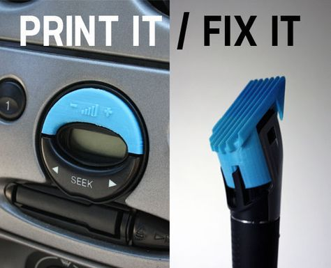 Picture of Fixing the stuff around you with a 3D-printer