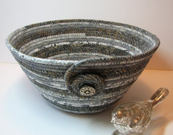 Coiled Fabric Basket Coiled Fabric Bowl by CentralFabrications, $22.00