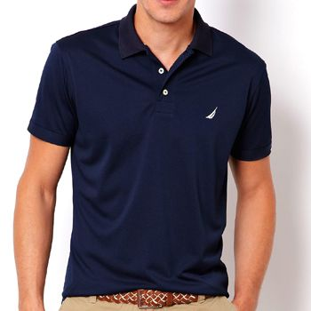 Nautica Tall Mens Solid Deck Polo Shirt