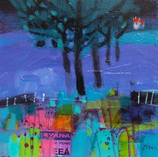 Francis Boag, Ury Winter Blues,  Mixed Media | Scottish Contemporary Art