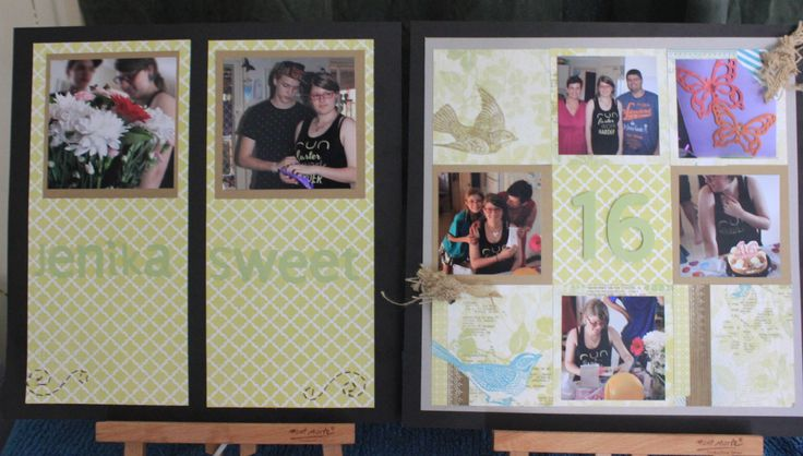"My double page layout of my daughters 16th Birthday.  Lettering cut out using the Cricut machine.  Paper is from the ""Skylark"" paper pack.  Ribbon is the Burlap Ribbon.  Everything is from CTMH and can be ordered here at www.klheit.ctmh.com.au"