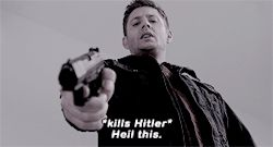 Dean killing Hitler. He was so happy about it throughout the season.