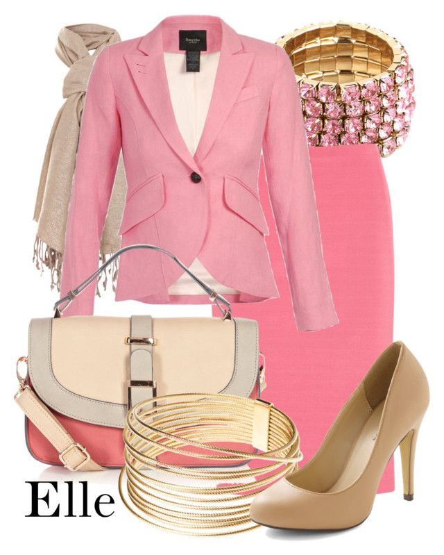 """""""Elle Woods - Legally Blonde"""" by thebroadwaywardrobe ❤ liked on Polyvore featuring BaubleBar, Donna Karan, Miss Selfridge, Smythe, Warehouse, legally blonde, broadway and legally blonde the musical"""