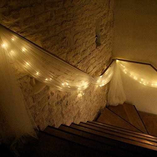 LEORX Lumière LED String 10 m 220 V 100 LED 8 mode LED Ambiente Éclairage avec connecteurs männlichweiblich pour Noël mariage fête décoration (Blanc chaud): Amazon.fr: Cuisine & Maison