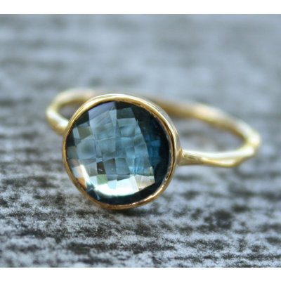 Tara Ring: Blue Topaz Ring, Style, Gold Blue, Gold Rings, Jewelry, Jewels, London Blue