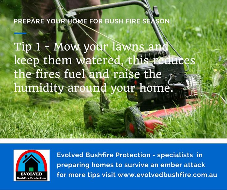 Home fire resilience Tip 1 - Lawns.