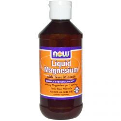 Now Foods, Liquid Magnesium With Trace Minerals, 8 Fl Oz (237 Ml), Diet Suplements 蛇
