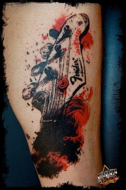 Cool trash polka tattoo. #tattoo #tattoos #ink