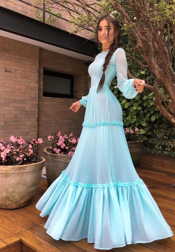 30 vestidos longos azul tiffany e verde tiffany para casamento (madrinhas de casamento e convidadas) | Vestidos, Vestidos longos azuis, Vestidos tiffany