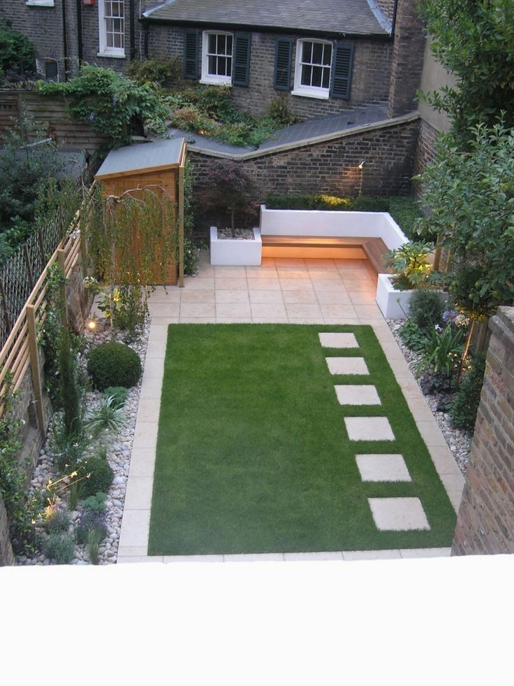 32 Creative Home Front Landscape Design Ideas Back Garden Design Small Backyard Landscaping Small Back Gardens