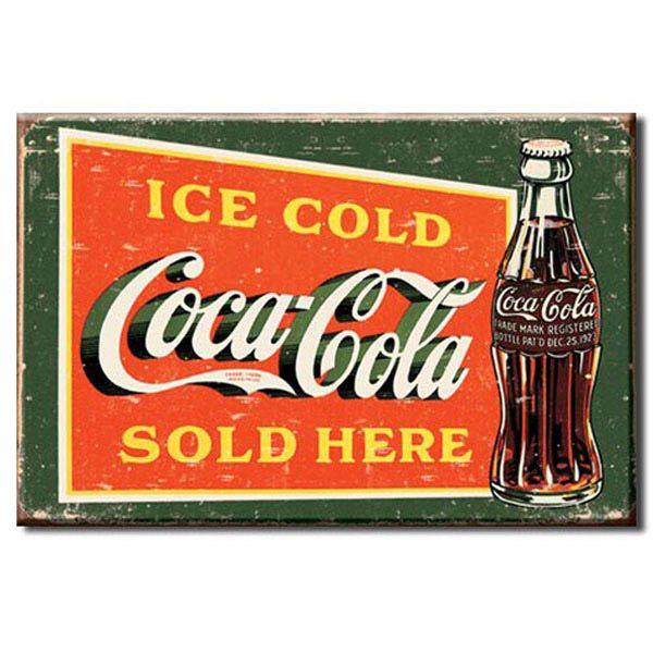 Coca-Cola Ice Cold Contour Bottle Fridge Magnet | Coke Refrigerator Magnets | RetroPlanet.com
