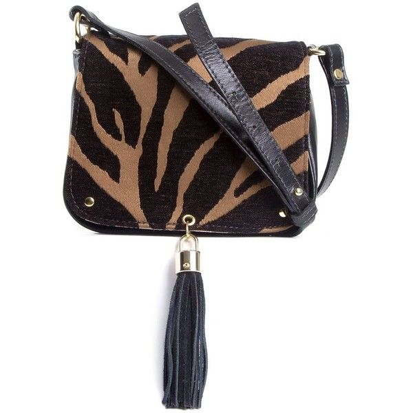 Xaa Animal Print Bag ($190) ❤ liked on Polyvore featuring bags, handbags, shoulder bags, white shoulder bag, animal print handbag, white purse, tassel purse and animal print shoulder bag