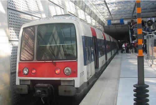 RER Train At Paris Charles De Gaulle Airport