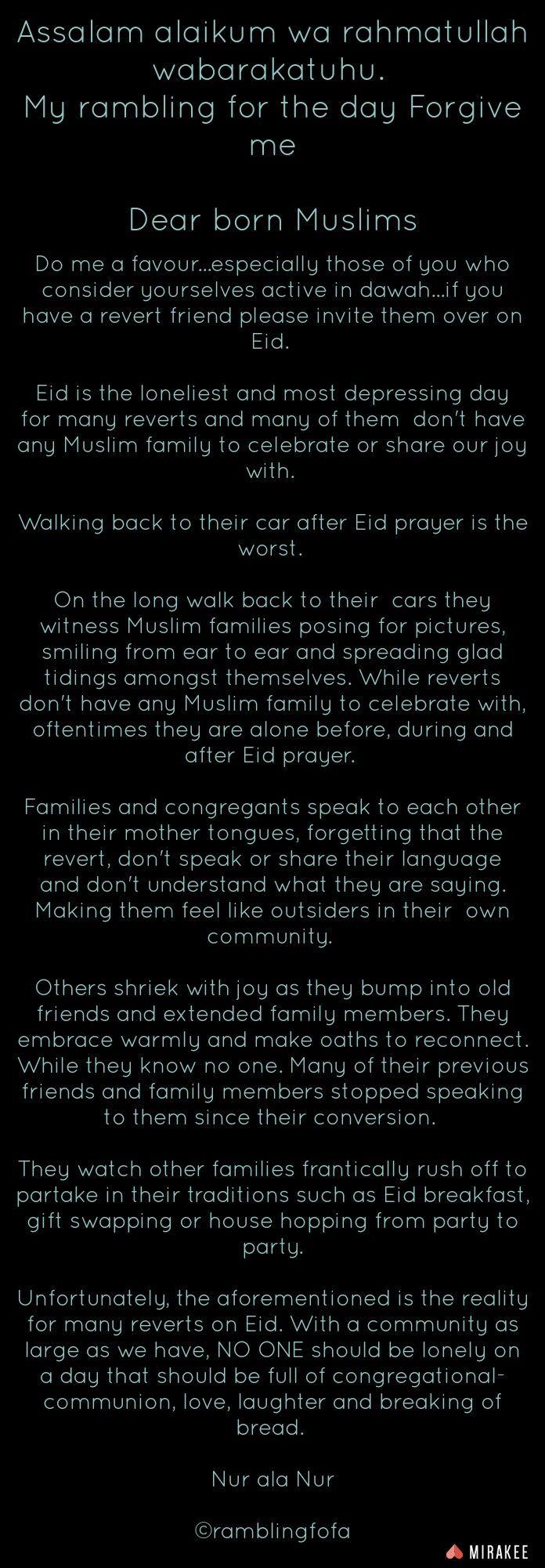 Assalam Alaikum Wa Rahmatullah Wabarakatuhu My Rambling For The Day  Forgive Me Dear Born Muslims