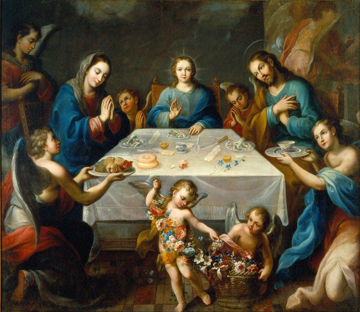 José de Alcíbar, La tavola benedetta ovvero la benedizione della mensa, XVIII sec., Museo Nacional de Arte, Città del Messico