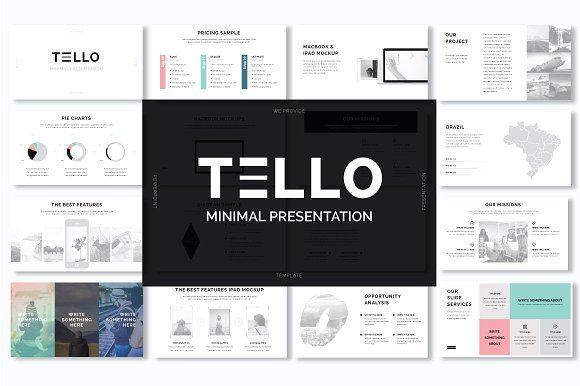 Tello Minimal Presentation by Ryanda on @creativemarket