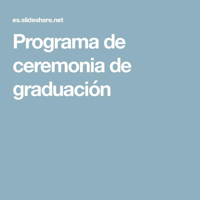 Programa de ceremonia de graduación