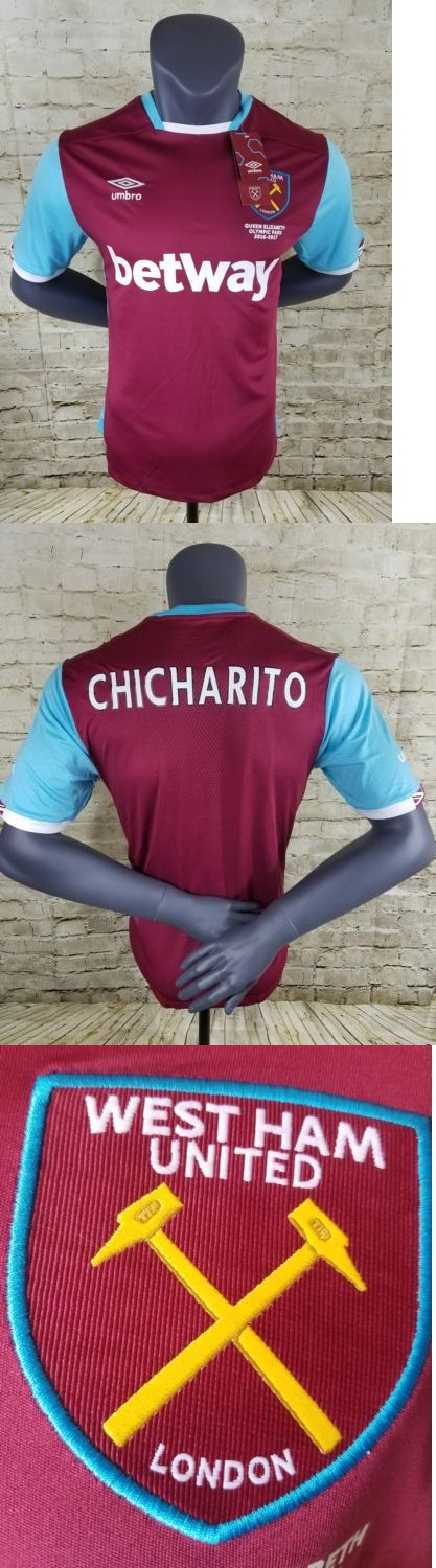 Men 123490: West Ham United Fc Home Jersey 2016 2017 Mens Football Soccer Chicharito -> BUY IT NOW ONLY: $38 on eBay!