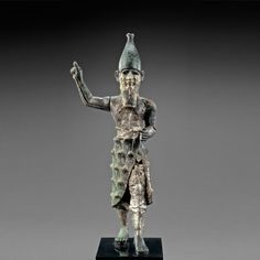 Hittite Bronze, Silver and Electrum Statuette of a Mountain God