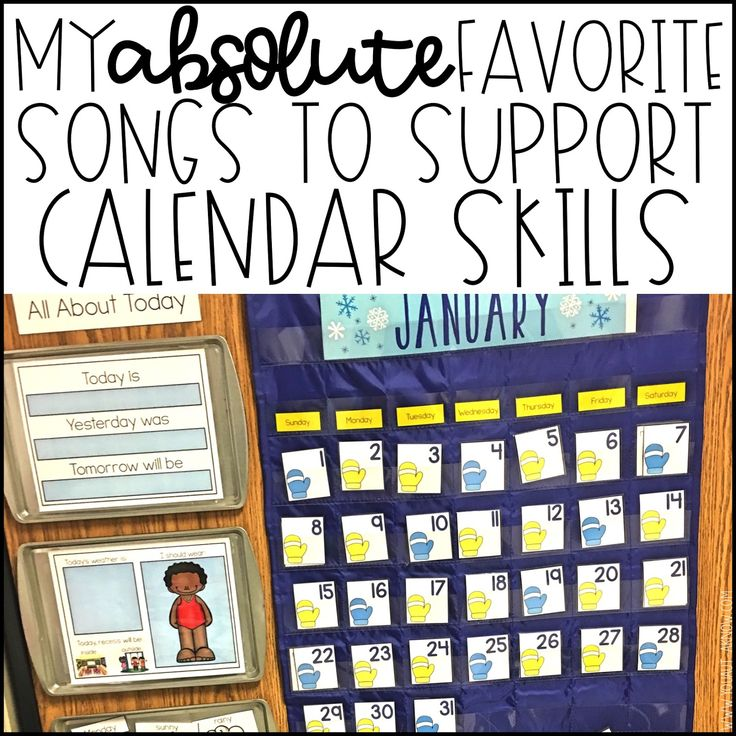 Incorporating songs during our calendar time lends itself to multi sensory learning in my special education classroom. Check out 3 of my favorite songs to use during calendar time.