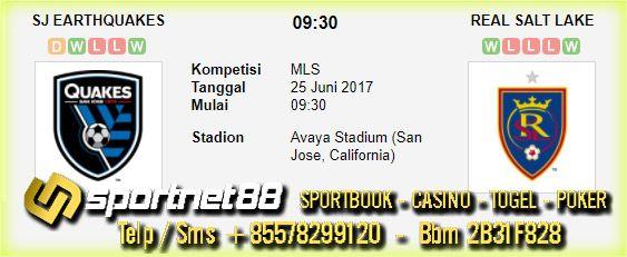 Prediksi Skor Bola SJ Earthquakes vs Real Salt Lake 25 Jun 2017 MLS di Avaya Stadium (San Jose, California) pada hari Minggu jam 09:30 live di beIn Sport 1