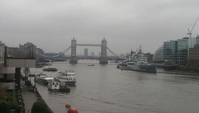 Tower Bridge in a Foggy day