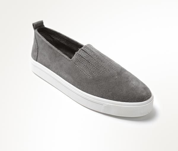 Cool meets comfort sneakers. Suede upper, gored elastic, padded insole with rubber sole.
