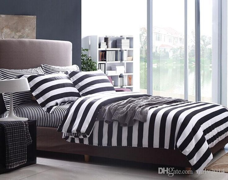 modern minimalist comfort set high quality bed suite 100 cotton black white stripes bedding set full queen king size bed linens