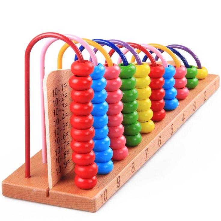 Faggio arcobaleno Abaco calcolo aritmetico operazioni aritmetiche matematica 1 + 1 in legno per bambini giocattoli educativi
