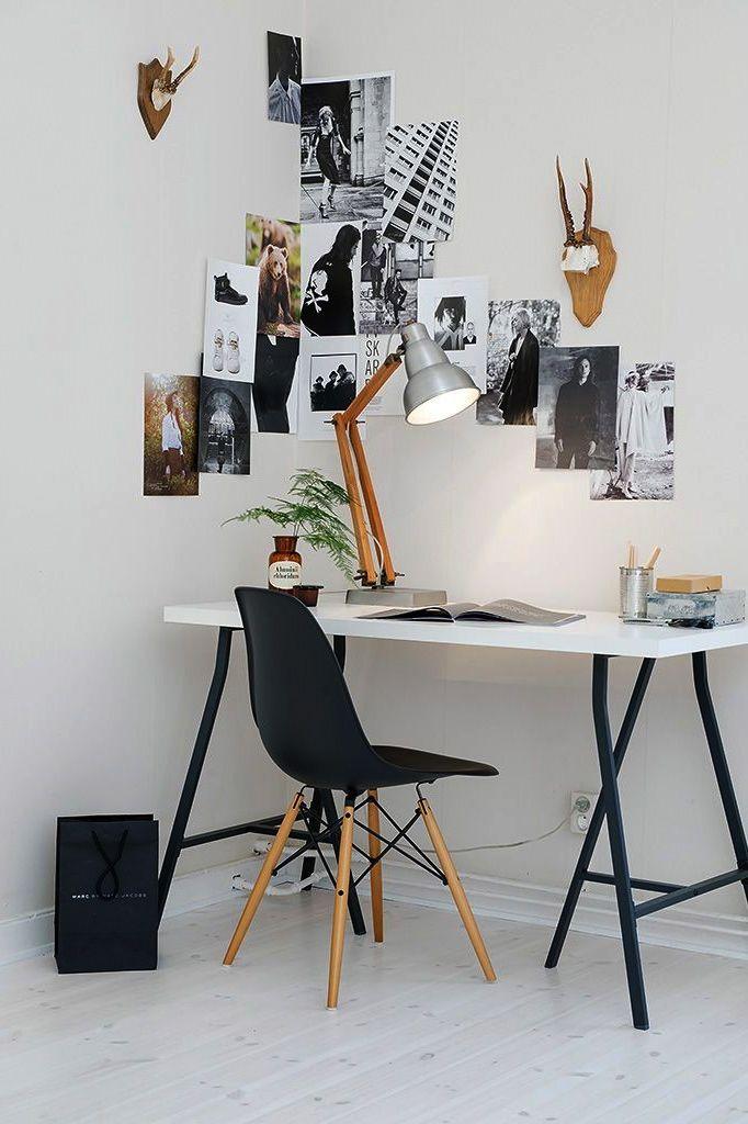 bureau blanc pieds noir