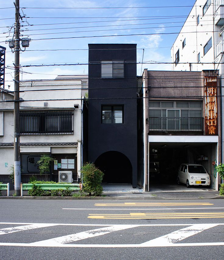 House F for a Violinist is another gorgeous build by one of my favorite Japanese firms, Hiroyuki Shinozaki Architects. The small, dark structure is situated on a narrow plot in busy downtown Tokyo. The architects responded to the site's slim condition with a three story home, which uses height and depth to meet the needs of the occupant. The ground floor is a covered entrance, which also functions as a carport. The second and third stories contain the living and sleeping spaces, as well as a…