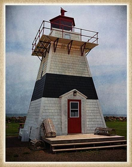 Tignish Shore Lighthouse at Fisherman's Haven Park, Tignish Shore. Taken July 13 2012