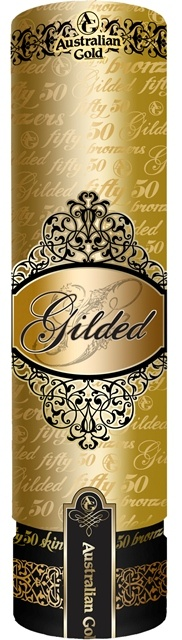 Gilded™ Fifty50™ Intense Dark Bronzing and Skincare power is fit for royalty.  This revolutionary formula is infused with an exclusive blend of intense bronzers and skincare ingredients for decadently smooth, healthy skin that also delivers the deepest, darkest color possible.  SatinTouch™ Blend will leave your skin so soft others will be envious.  Glistening Gold extract will have you glowing with the sheer, Gilded™ radiance of youth and 24K color.