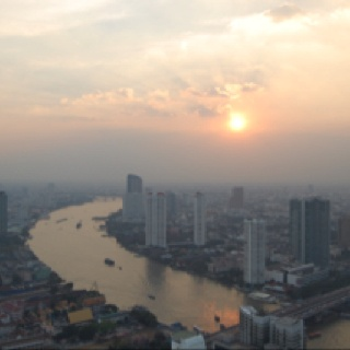 Morning in bankok!  Stayed at the Penninsula - fabulous place.