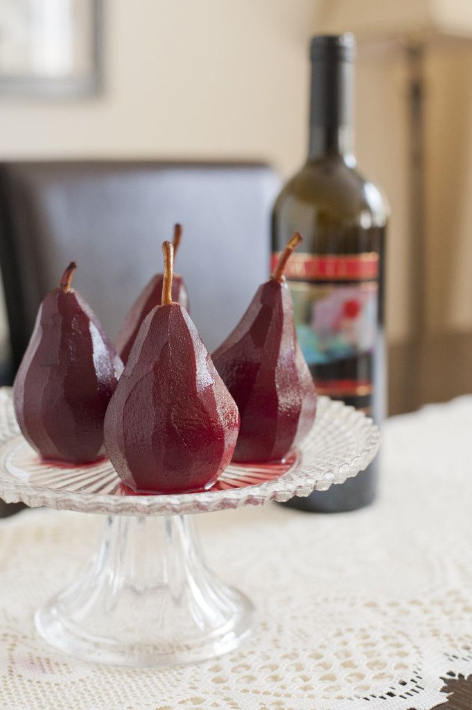 A few of my favourite things: Pears & wine.