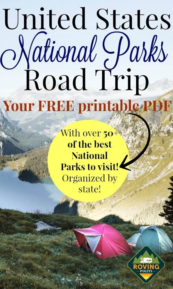 National Parks Checklist Green Free Printable National Park