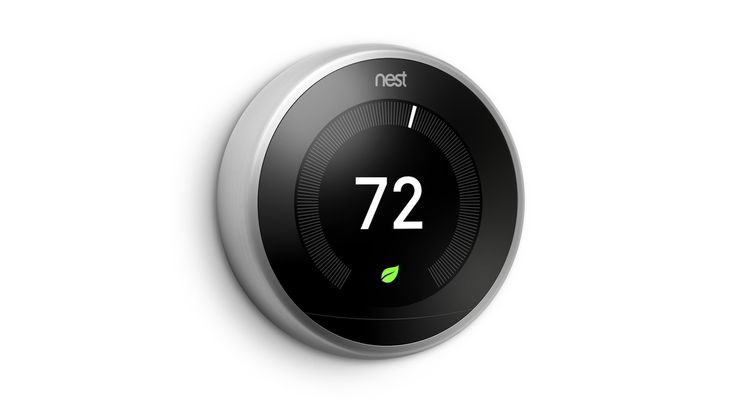 New third Generation Nest Thermostat with Slimmer Profile and Larger Screen - http://DesireThis.com/3677 - Nest Labs unveiled its third generation Nest Learning Thermostat today featuring a slimmer profile, a higher resolution display that's 40% larger, and a new user interface that makes it easier to read temperatures, alerts and messages. The device also brings Farsight, a new feature that automatically displays the target temperature or time when it senses movement in the