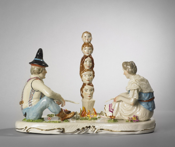 Shary Boyle, Family, 2010 porcelain, china paint, luster 26 x 36 x 20 cm